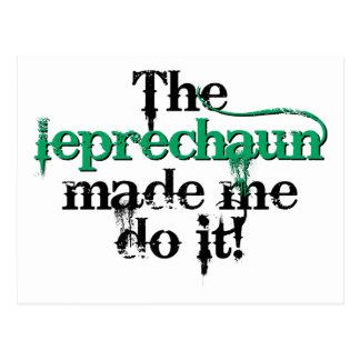 The leprechaun made me do it (bc) postcard