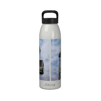The Lesser Great Bug Zapper against sky Reusable Water Bottle