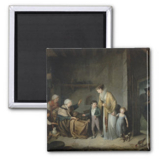 The Lesson in Charity 2 Inch Square Magnet