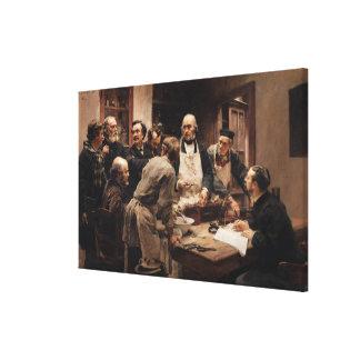 The Lesson of Claude Bernard Canvas Print