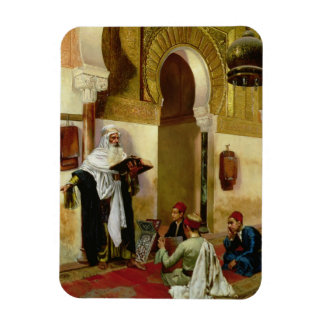 The Lesson (oil on canvas) Rectangular Photo Magnet