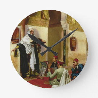 The Lesson (oil on canvas) Round Clock