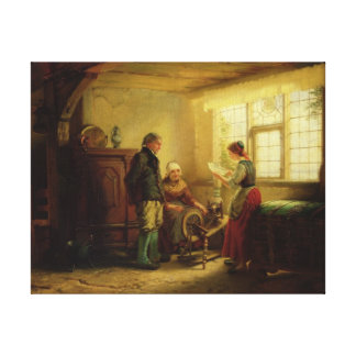 The Letter, 1869 Canvas Print