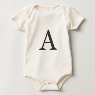 "the letter ""A"" Baby Bodysuit"