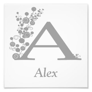 The Letter A - Boy's Wall Art - Template Photo