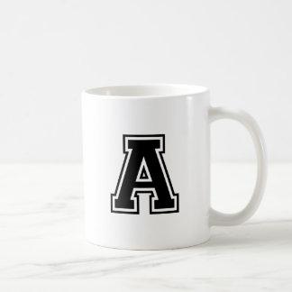 The Letter A, Collegiate Alphabet Coffee Mug