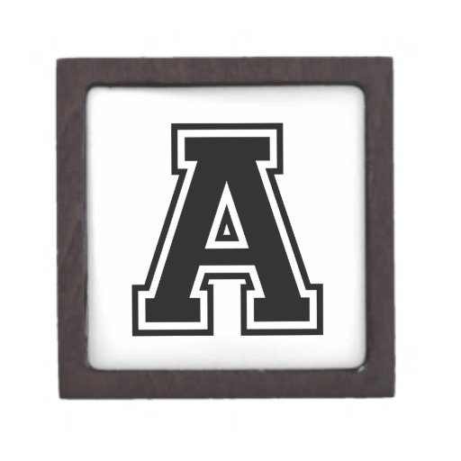the letter a collegiate alphabet jewelry box zazzle With letter jewelry box