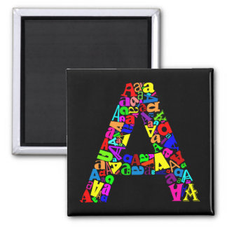 The Letter A Magnet
