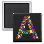 The Letter A Refrigerator Magnet