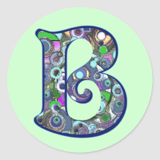 The Letter B Classic Round Sticker