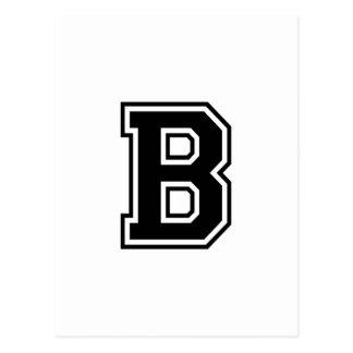 The Letter B Collegiate Alphabet Post Card
