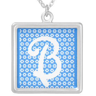 "The Letter ""B"" Silver Plated Necklace"