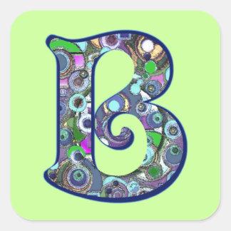The Letter B Square Sticker