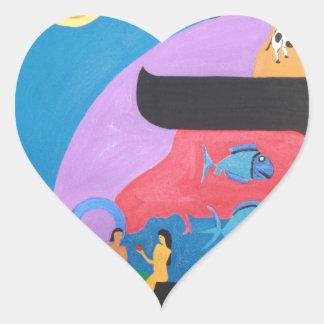 The letter Bet Heart Sticker