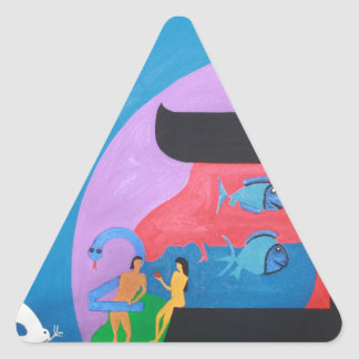 The letter Bet Triangle Sticker