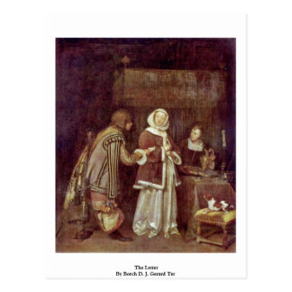 The Letter By Borch D. J. Gerard Ter Postcard