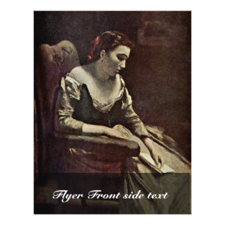 """The Letter By Corot Jean-Baptiste-Camille (Best Qu 8.5"""" X 11"""" Flyer"""