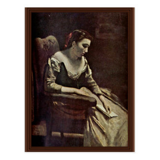 The Letter By Corot Jean-Baptiste-Camille (Best Qu Postcard