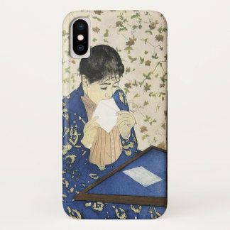 The Letter by Mary Cassatt, Vintage Impressionism iPhone X Case