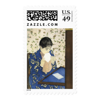 The Letter by Mary Cassatt, Vintage Impressionism Postage