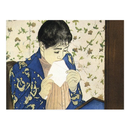The Letter by Mary Cassatt, Vintage Impressionism Postcard