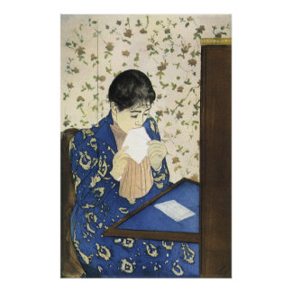The Letter by Mary Cassatt, Vintage Impressionism Poster