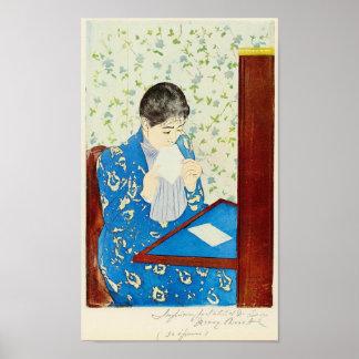 The letter by Mary Stevenson Cassatt Print