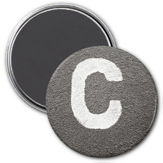 The Letter C 3 Inch Round Magnet