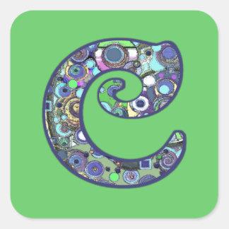The Letter C Square Sticker