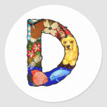 The Letter D Classic Round Sticker
