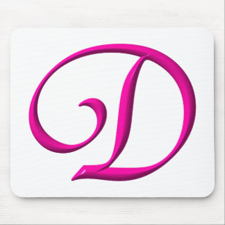 The letter D Mouse Pad