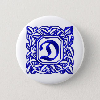 The letter D Pinback Button
