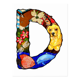 The Letter D Post Cards