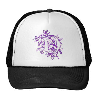 The letter D with Angel Trucker Hat