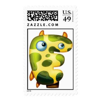 The letter Epsilon Stamp