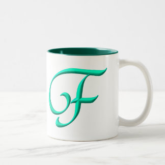 The letter F Two-Tone Coffee Mug