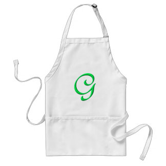 The letter G Adult Apron