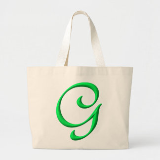 The letter G Large Tote Bag
