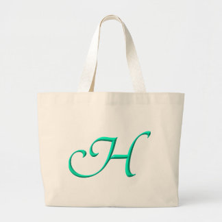 The letter H Large Tote Bag