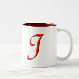 The letter I Two-Tone Coffee Mug