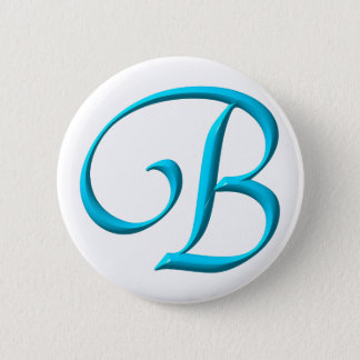 The Letter Initial Monogram B Button