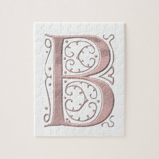 The Letter Initial Monogram B Jigsaw Puzzle
