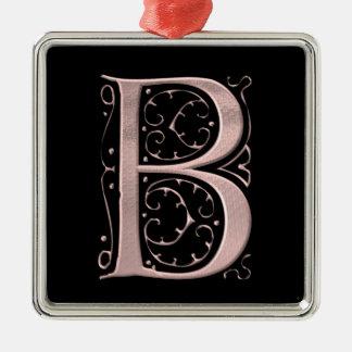 The Letter Initial Monogram B Metal Ornament