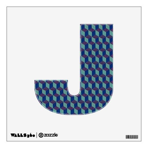 The letter j alphabet wall decal theletterj zazzle for Large letter j for wall