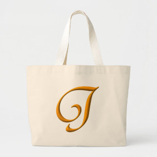 The letter J Large Tote Bag