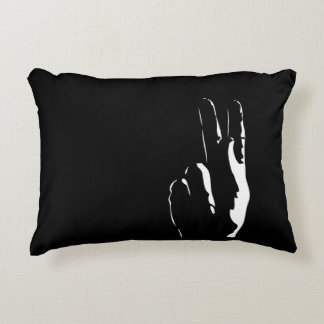 the letter K in sign language Accent Pillow