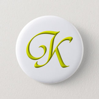 The letter K Pinback Button