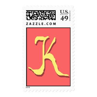The Letter K Stamp