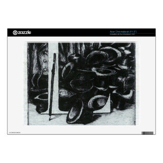 The letter L with hats by James Tissot Acer Chromebook Decal