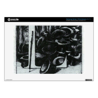The letter L with hats by James Tissot Samsung Chromebook Decal